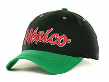 Mexico International World Cup National Football Soccer Black Strapback Hat Cap