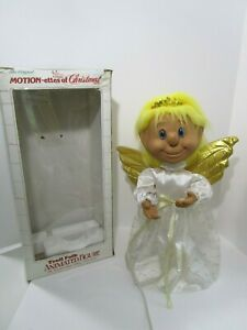 """Vintage Telco Motionette Christmas  22"""" Animated TROLL ANGEL W/BOX WORKS GREAT"""