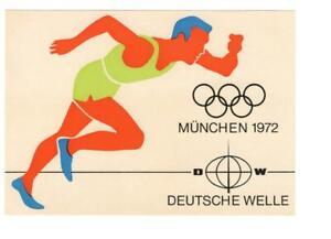 QSL, Germany, Deutsche Welle, 1972, Munich Olympics card