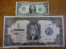 ONE DOLLAR PLAYBOY CLUB BUNNY MONEY NICE & CRISP HEFNER FEMLIN 1960 FREE SHIP