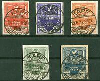 Östliches Oberschlesien 1,2,3,4,6 B aus 1 - 7 gestempelt KARF Polen Mi. 290,00 €
