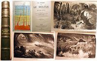 GEOLOGIE/LA TERRE AVANT LE DELUGE/L.FIGUIER/HACHETTE/1866/CARTES,SCHEMAS..