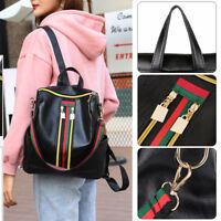 Fashion Women Backpack Girls Travel Shoulder Bag Ladies PU Leather Zip Rucksack