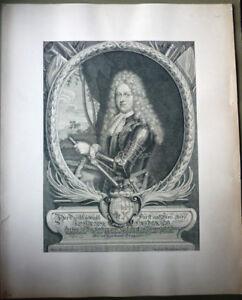Kupferstich Herzog zu Würtemberg, Feldherr, Adel                      (Art.4117)