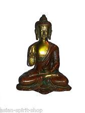 Segnender Buddha Messing 21 cm 2,1 Kilo Tibet Vitarka Mudra Nepal Buddhismus