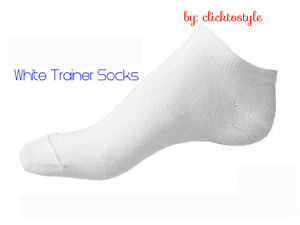 3 PAIRS MENS WHITE BREATHABLE QUALITY TRAINER LINER ANKLE SOCKS UK SIZE 6-11