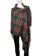 Cashmere Feel Blanket Scarf Large Scottish Tartan Plaid Shawl Wrap Winter Warm
