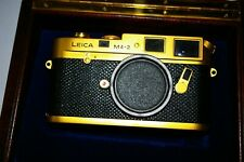 GOLD LEICA  LEITZ M4-2 100 YEAR ANNIVERSARY NEW  CAMERA with ORIGINA FACTORY BOX