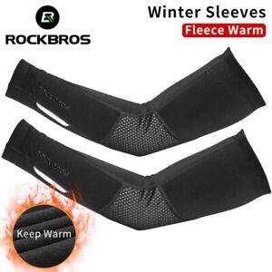 ROCKBROS Bike Winter Windproof Thermal Fleece Sleeves