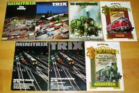 7x Trix Minitrix Katalog Modellbahn Werbung Prospekte 80er alt Gesamtkatalog