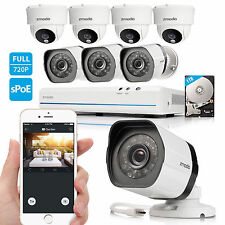 Zmodo 8CH 1080p HDMI NVR w/ 720p CCTV IR-Cut Camera Home Security System 1TB HDD