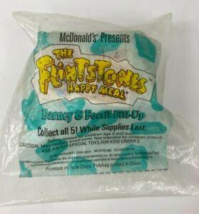 '93 Flintstones Barney & Fossil Fill-Up 3 pcs McDonald Peel Off Stickers Sealed