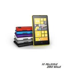10 Pellicola OPACA per Nokia Lumia 820 Protettiva Pellicole MATT ANTIMPRONTA