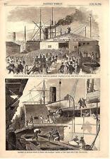 "Loading Supplies on board Steamships ""Atlantic and ""Baltic""  -  Civil War - 1861"