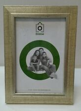 Gold wooden eustoma photo picture frame 4x6