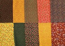 Lot of 10~Vintage Estate Find Floral Calico Fabric Scraps, Quilt/Crafts/Sewing
