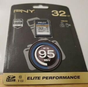 PNY ELITE Performance 32GB High Speed SDHC Card,Class 10 UHS-I
