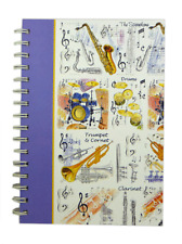 A5 Musical Instruments 2 Notebook - Music Gift - Music Stationery