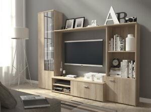 HUGO TV Unit And Living Room Set - Oak - White/Oak - White