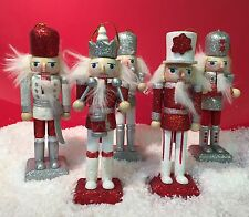 5 Nutcracker Soldiers With Opening Mouths ~ Christmas Tree Decoration XM1249