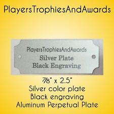 "7/8"" x 2 1/2"" Perpetual Name Plate silver - Black engraving 2.5 x 7/8"" Aluminum"