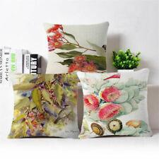 "18""Fashion Fruit flowers Linen Cotton Throw Pillow Case Cushion Cover Home Decor"