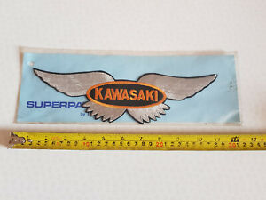 LARGE VINTAGE KAWASAKI MOTORCYCLE PATCH