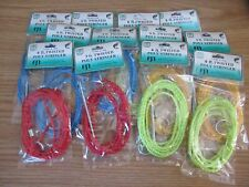 12 POLY STRINGERS SILENT 6 FT TWISTED CORD ROPE ASST COLOR FISH FISHING STRINGER