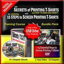 Learn How To Print T-Shirts Complete Video & PDF Book Training Digital Download