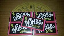 WONKA CHOCOLATE BAR 100 g chocolat au lait Nouveauté Replica Movie ticket d'or x...