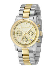 NIB Michael Kors Chronograph Runway Two-Tone Stainless Steel Watch MK5137