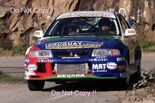 Gustavo Trelles Mitsubishi Lancer Evo VI Tour De Corse Rally 2001 Photograph 2