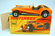 "Matchbox SF Nr. 60B Lotus Super 7 orange in ""J"" Box mit Mängeln"
