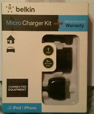 Belkin Micro Charger Kit iPhone iPod 3ft Sync Cable Black NEW