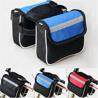 Cycling Bicycle Bike Frame Pannier Saddle Front Tube Bag Double Holder Pouch YB