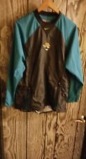 jacksonville jaguars coaches long sleeve pull over windbreaker mens medium