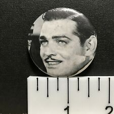 """Clark Gable, 1.75"""" Vintage Hollywood Movie Star Actor Pin-Back Button"""
