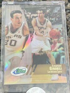 Rare NBA Star Manu Ginobili 2002 Etopps Rookie Basketball Card RC - Spurs
