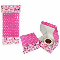 Pack Of 2 Pink Cardboard Cake Boxes - 26.5cm x 26.5cm x 10cm Approx