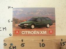 STICKER,DECAL CITROEN CITROËN XM GREEN BIJZONDER MODEL PICTURE CAR AUTO