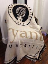 Bryant University Seal bulldogs Jacquard Woven Stadium Afghan Blanket NEW RARE