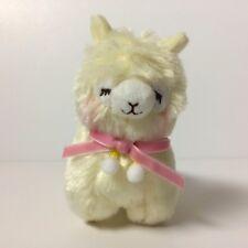 AMUSE Pon Pon Velvet Ribbon Yellow Closed Eye Girl (12cm) Arpakasso Alpaca Plush