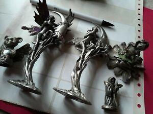 Myth & Magic   THE grim reaper  Pewter fairy teddy