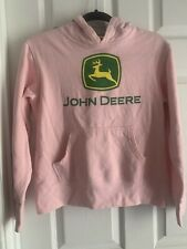 Small John Deere Pink Long Sleeve Sweatshirt Cotton Hoodie Soft Stretch Pullover