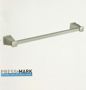 MOEN Hensley 18 in. Towel Bar with Press and Mark in Brushed Nickel MY3518BN