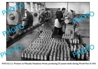OLD 8x6 PHOTO WHYALLA MUNITIONS WORKS PRODUCING SHELLS 1941 SOUTH AUSTRALIA