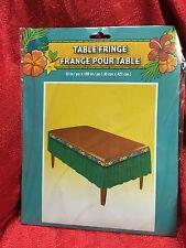 "Tropical Luau Table Decoration Green FRINGE GARLAND Tiki Bar Grass 12""X168"""