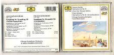 Cd DVORAK Symphony 9 Aus der neuen welt SCHUBERT Symphonie 8 CARLO MARIA GIULINI