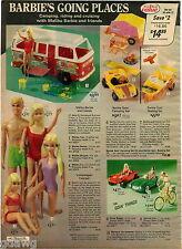 1976 ADVERT 5 PG Barbie Doll Malibu Camping Gold Metal PJ Ken Dusty Health Cente