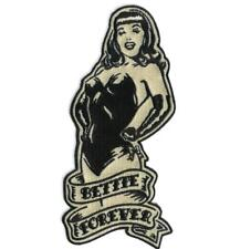Bettie Page Forever Patch Embroidered Iron On Retro Pin Up Vintage Rockabilly